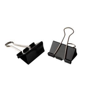 Foldback papierklemmen 19mm zwart | CollectivWarehouse