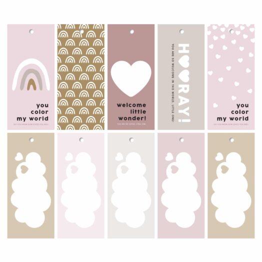 Newborn cadeaulabels meisje | CollectivWarehouse
