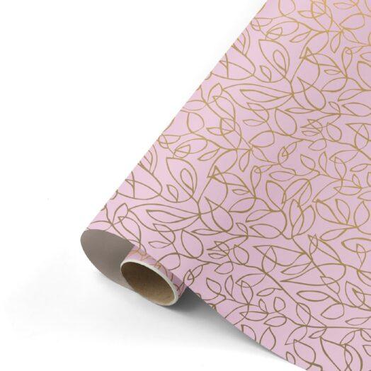 Cadeaupapier Fine Fleurs roze/goud/zand | CollectivWarehouse