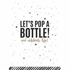 Let's pop a Bottle wenskaarten | CollectivWarehouse