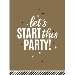 Let's start this Party wenskaarten | CollectivWarehouse