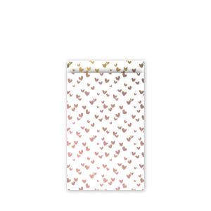 Cadeauzakjes 12x19cm Solo Hearts rose/goud | CollectivWarehouse