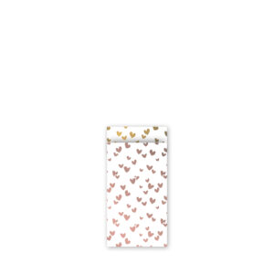 Cadeauzakjes 7x13cm Solo Hearts rose/goud | CollectivWarehouse