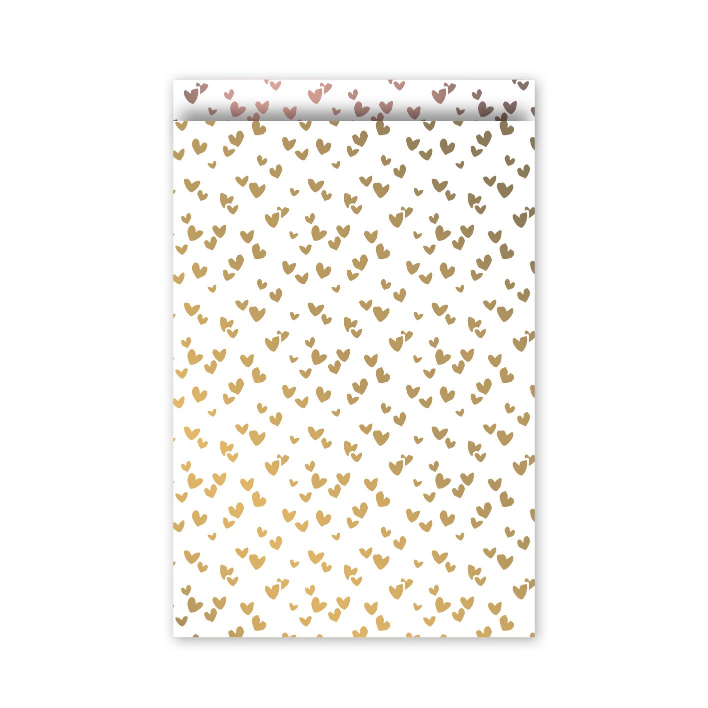 Cadeauzakjes 17x25cm Solo Hearts goud/rose | CollectivWarehouse