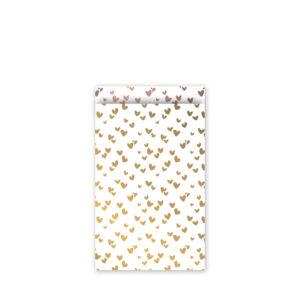 Cadeauzakjes 12x19cm Solo Hearts goud/rose | CollectivWarehouse