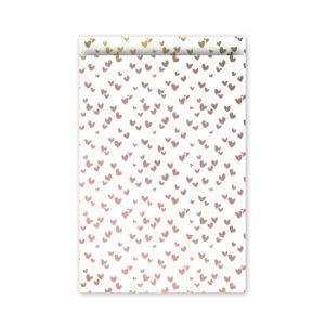 Cadeauzakjes 17x25cm Solo Hearts rose/goud | CollectivWarehouse