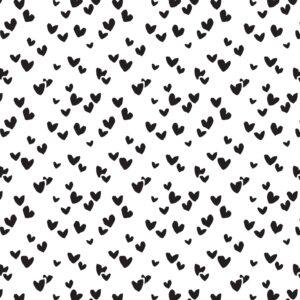 Zijdepapier Solo Hearts zwart | CollectivWarehouse