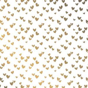 Zijdepapier Solo Hearts goud | CollectivWarehouse