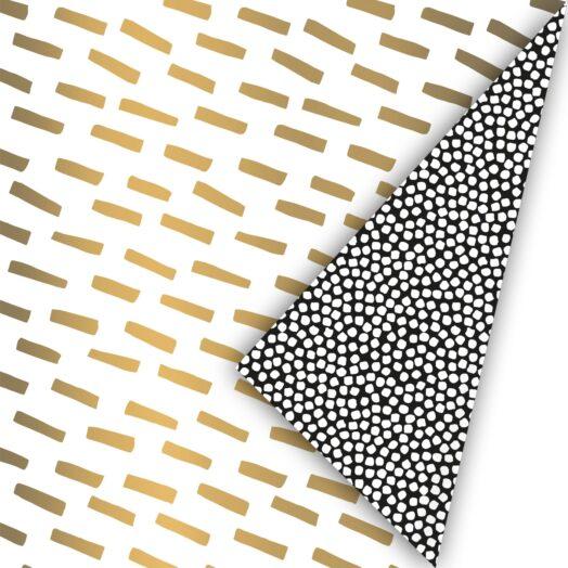 Cadeaupapier Open Spaces goud/zwart/wit | CollectivWarehouse