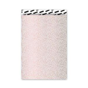 Cadeauzakjes 17x25cm Cozy Cubes roze/zwart/wit | CollectivWarehouse
