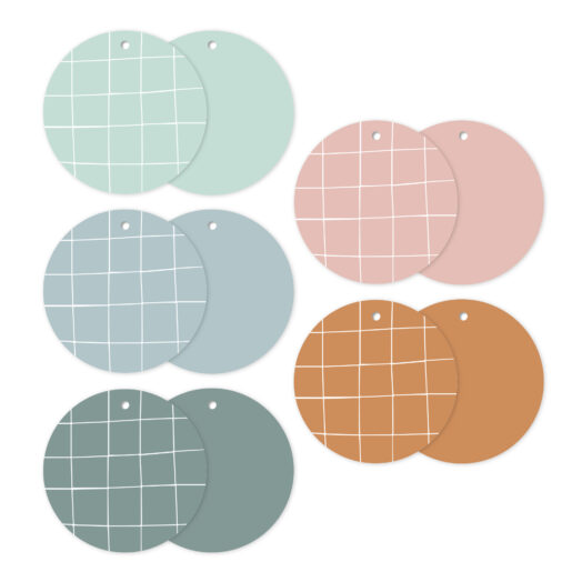 Cadeaulabels Hand drawn grid assorti | CollectivWarehouse