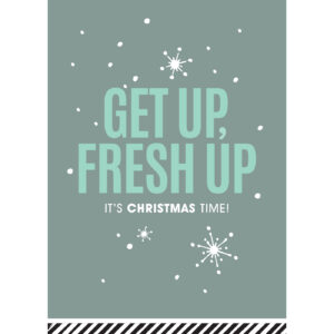 Kerstkaart Get up Fresh up | CollectivWarehouse