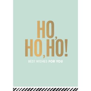 Kerstkaart Ho ho ho | CollectivWarehouse