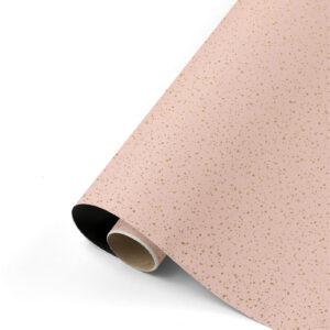 Cadeaupapier Twinkling stars roze/goud/zwart | CollectivWarehouse