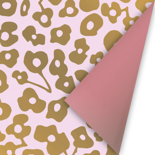 Cadeaupapier Wild Flower roze/goud | CollectivWarehouse