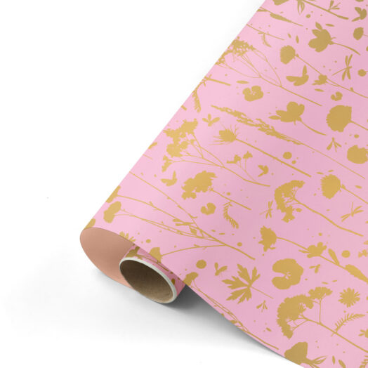 Cadeaupapier GROW pink&gold | CollectivWarehouse