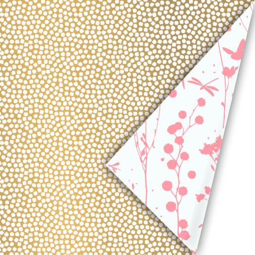 Cadeaupapier Spring Cubes gold | CollectivWarehouse