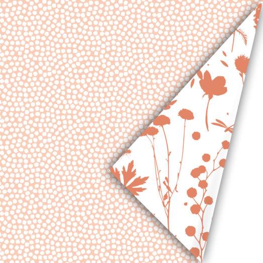 Cadeaupapier Spring Cubes peach | CollectivWarehouse