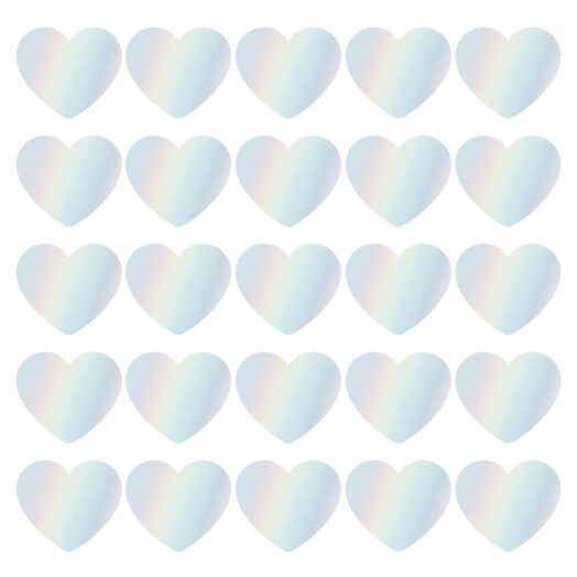 Cadeaustickers hearts holografisch | CollectivWarehouse