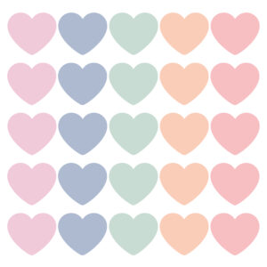 Cadeaustickers pastel mix hearts | CollectivWarehouse