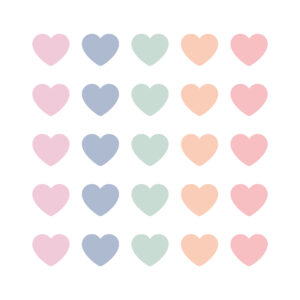 Cadeaustickers pastel mix mini hearts | CollectivWarehouse