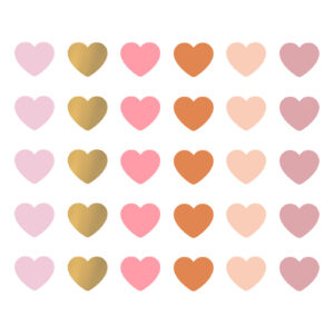 Cadeaustickers Multicolor mini hearts | CollectivWarehouse