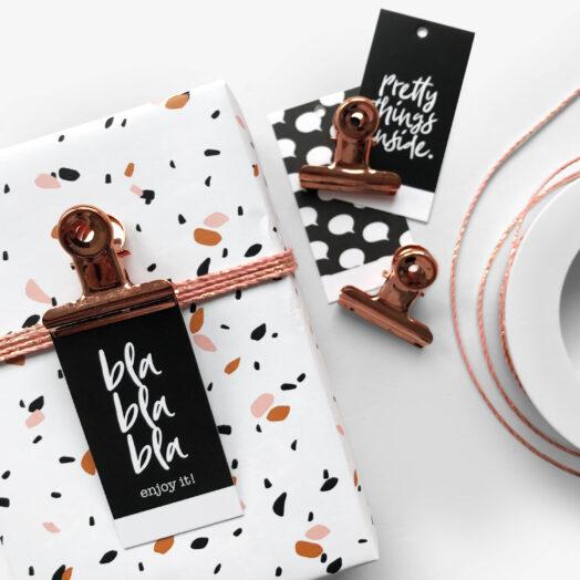 Black & White cadeaulabels | CollectivWarehouse