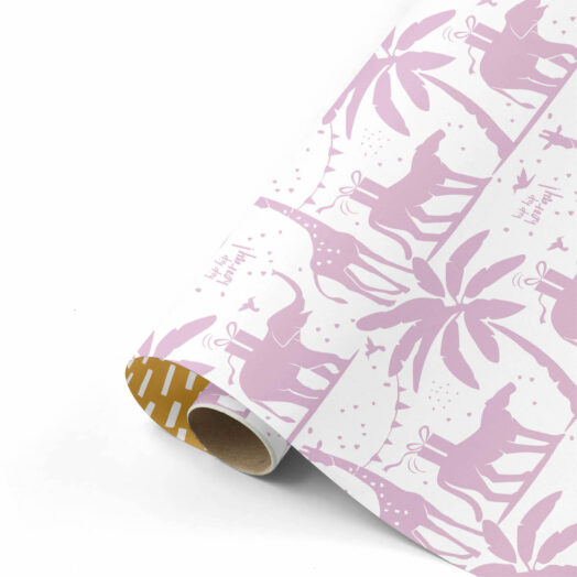Cadeaupapier Tropical Party lila/goud | CollectivWarehouse