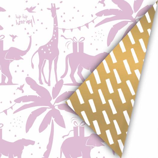 Cadeaupapier Tropical Party lila/goud| CollectivWarehouse