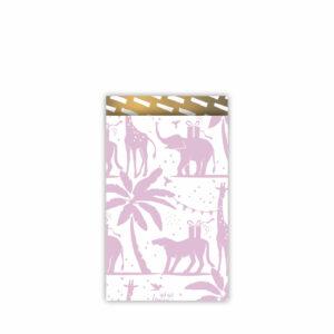 Cadeauzakjes 12x19cm Tropical Party lila/goud | CollectivWarehouse