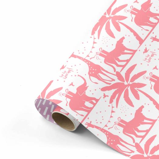 Cadeaupapier Tropical Part neon/lila | CollectivWarehouse