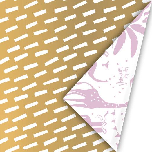 Cadeaupapier Open Spaces goud/wit | CollectivWarehouse