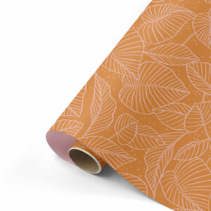 Cadeaupapier Lovely Leaves roest/roze | CollectivWarehouse