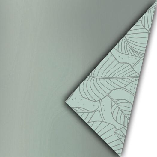 Cadeaupapier Metallic Lovely Leaves salie/antraciet | CollectivWarehouse
