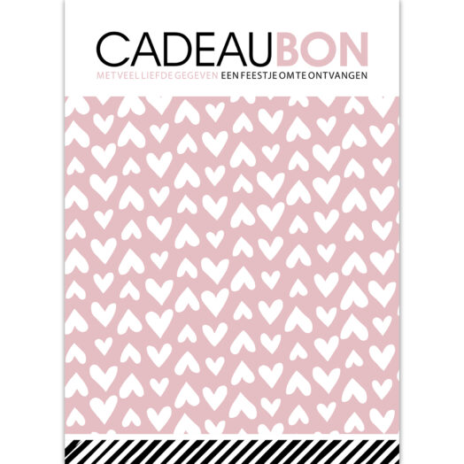 Cadeaubon Lovely Hearts roze | CollectivWarehouse