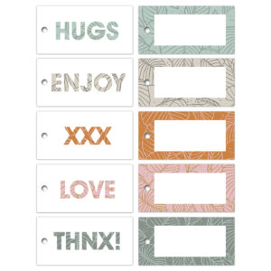Cadeaulabels Lovely Leaves assorti | CollectivWarehouse