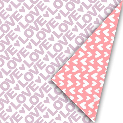 Cadeaupapier Love Letter lila/neon | CollectivWarehouse