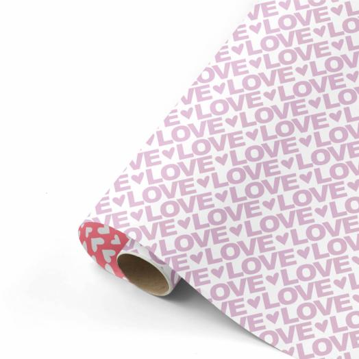 Cadeaupapier Love Letters lila/neon | CollectivWarehouse