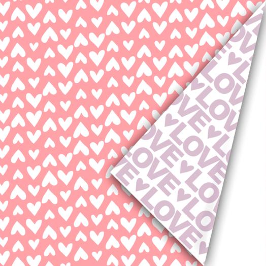 Cadeaupapier Love Letter neon/lila | CollectivWarehouse