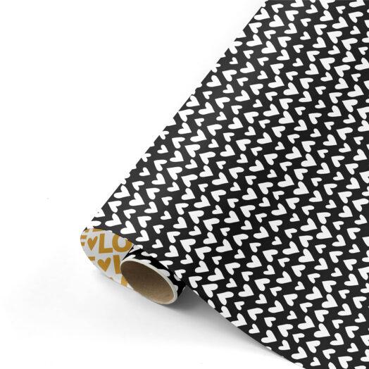 Cadeaupapier Love Letters zwart/goud | CollectivWarehouse