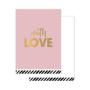Minikaartjes With love 20 stuks | CollectivWarehouse