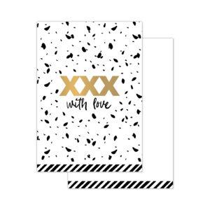 Minikaartjes XXX With Love 20 stuks | CollectivWarehouse