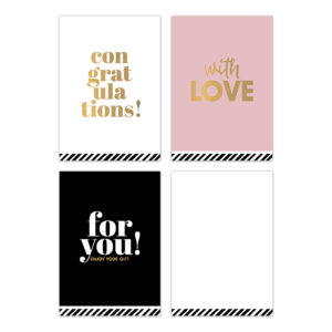 Minikaartjes Perfect Basics assorti 30 stuks | CollectivWarehouse