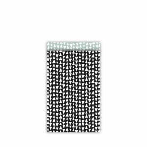 Cadeauzakjes 12x19cm Ethnic Triangles zwart/salie | CollectivWarehouse
