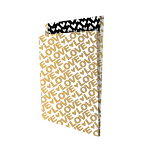 Tijdschriftenzak 25x34cm +4 Lovely Letters goud/zwart | CollectivWarehouse