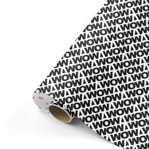Cadeaupapier WOW Statement zwart/lila | CollectivWarehouse