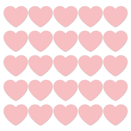 Cadeaustickers Pink Pastel hearts | CollectivWarehouse