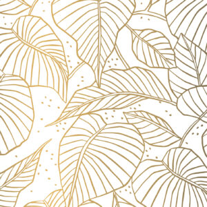 Zijdepapier Lovely Leaves goud | CollectivWarehouse