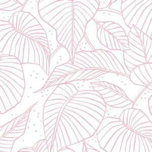 Zijdepapier Lovely Leaves roze | CollectivWarehouse
