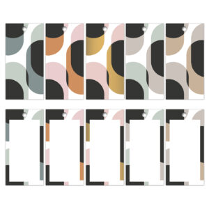 Cadeaulabels Retro Shapes | CollectivWarehouse